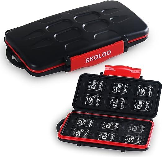 Micro SD SDHC tarjetas de memoria SDXC bolso book case box estuche tarjetas de memoria funda