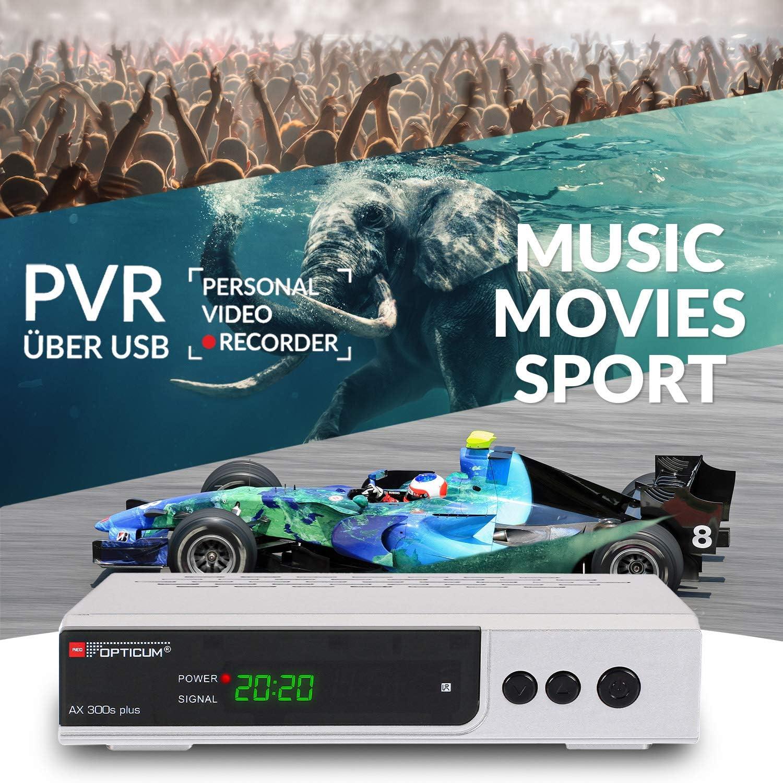 Opticum HD AX 300 PVR Receptor de televisión de Alta definición por satélite (PVR Listo, Full HD 1080p, HDMI, USB, S / PDIF coaxial, euroconector) de ...