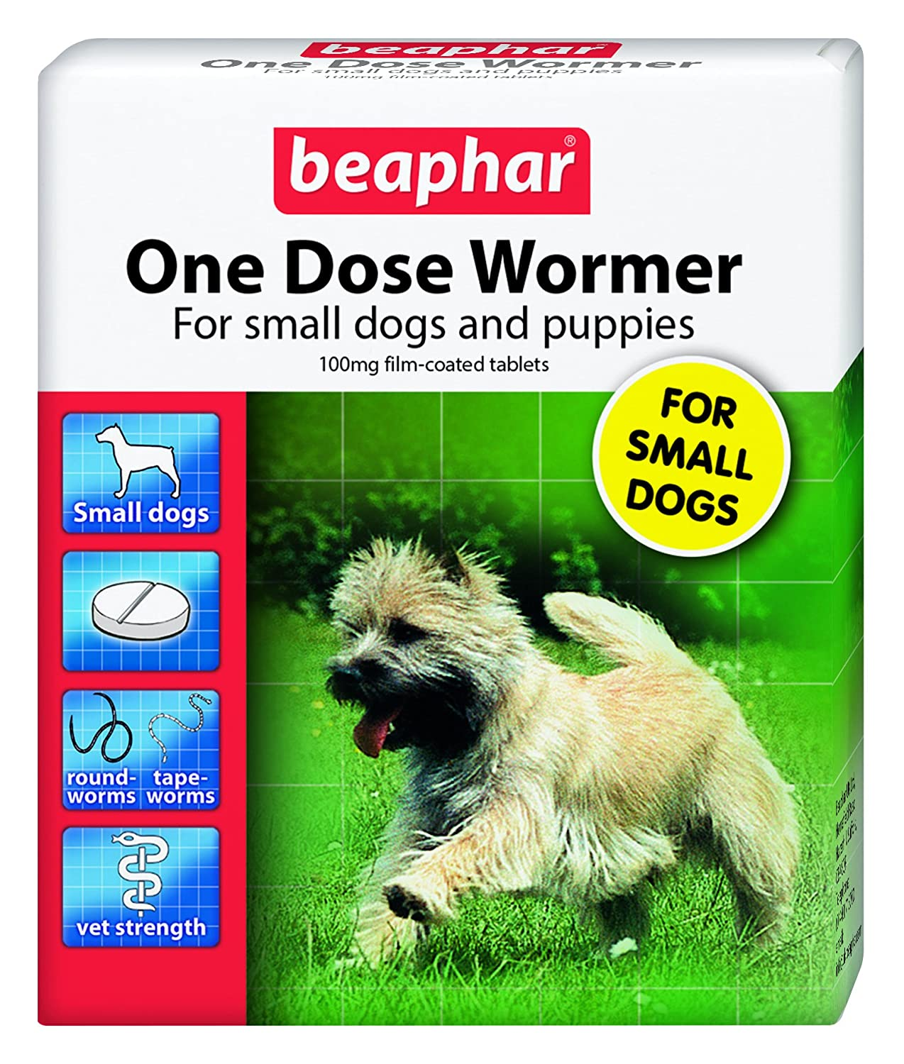 (12 Pack) Beaphar - One Dose Wormer for Small Dogs & Puppies 3 Tabs