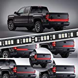 KUFUNG LED Truck Tailgate Light Bar Strip, 2 Row 60 Inch Waterproof Red White Reverse Brake Lights, Turn Signal Running for T