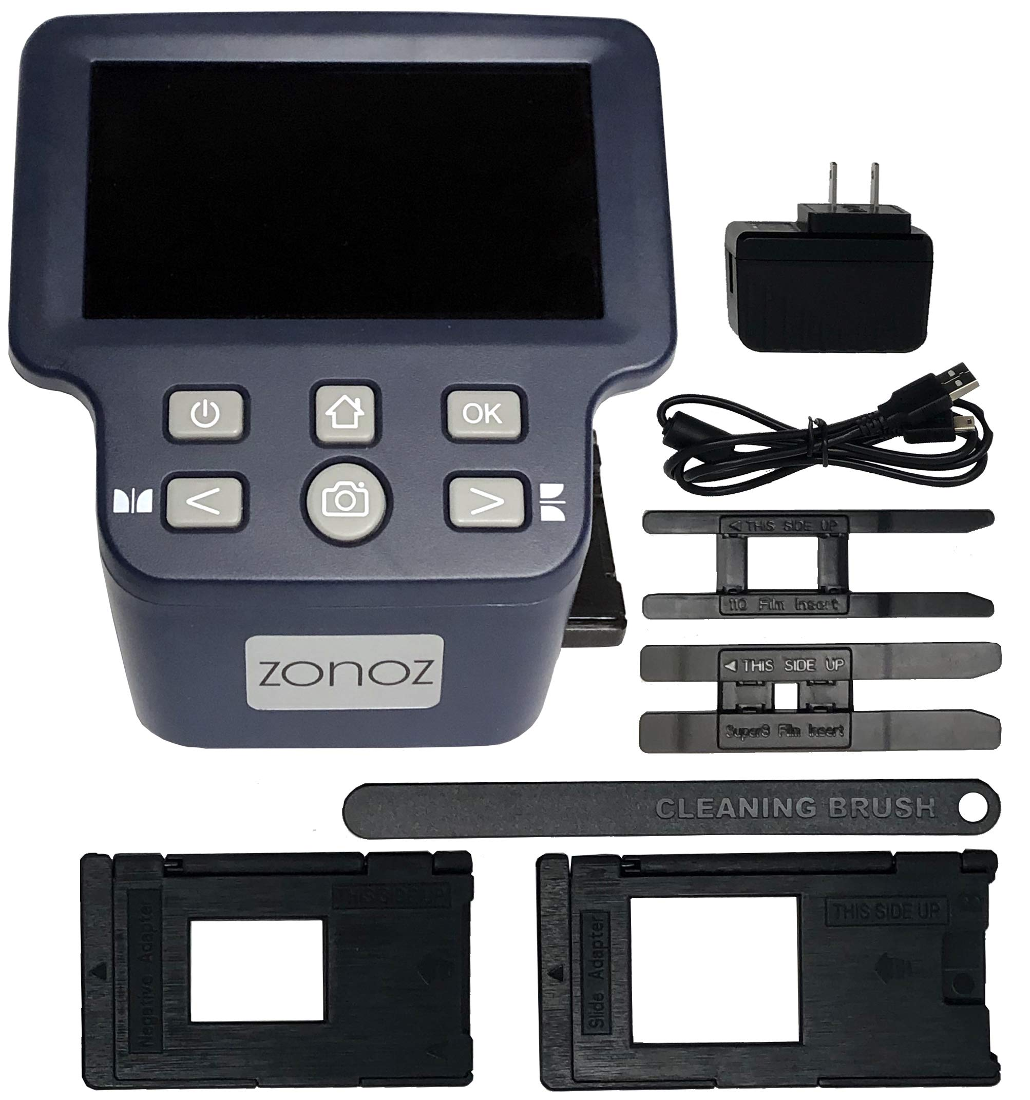 zonoz FS-Four Digital Film & Slide Scanner Converter w/HDMI Output - Converts 35mm, 126, 110, Super 8 & 8mm Film Negatives & Slides to JPEG - Large 5'' LCD, Easy-Load Adapters (Worldwide 110V-220V) by zonoz (Image #7)