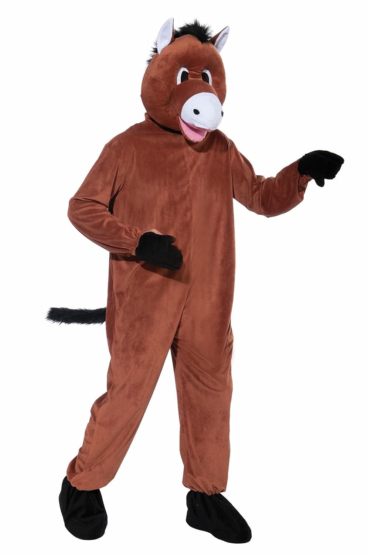 Horse Plush Mascot Adult Costume