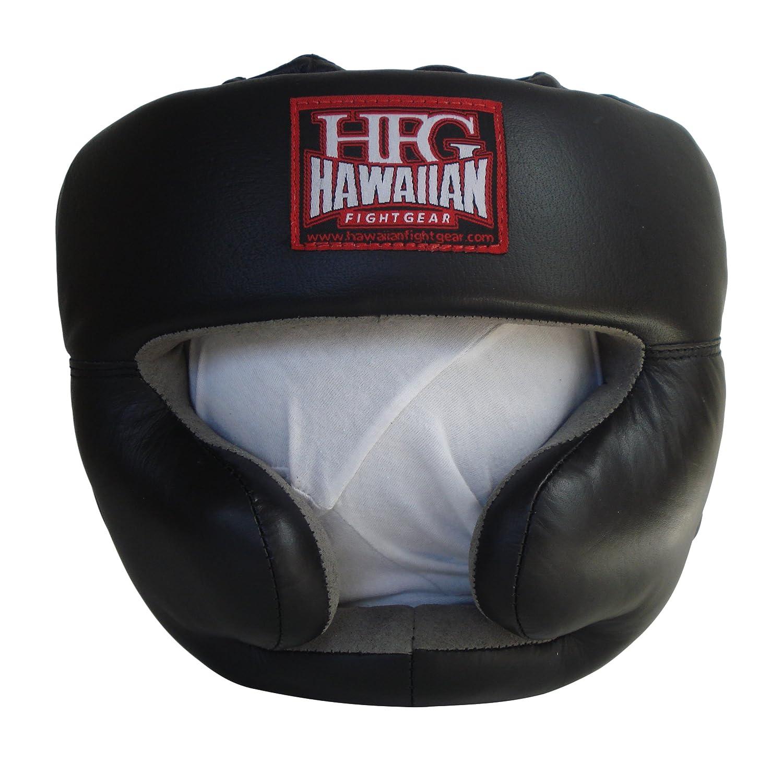 ハワイアンFight gear-hfg究極レザーPro Full FaceトレーニングHeadgearブラックLarge   B00G58ZSCG, トシマク:7896f18e --- capela.dominiotemporario.com