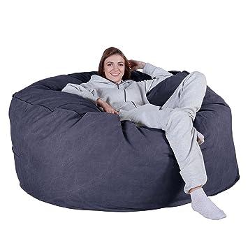 Lounge Pug® - Chunky DENIM - CLOUDSAC - Huge Memory Foam GIANT Bean Bag SOFA 6db3a73d6a9aa