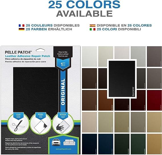 Heavy-Duty 20cm x 28cm 25 Colori Disponibili Toppa Adesivo per Riparare Pelle e Vinile Pelle Patch Beige