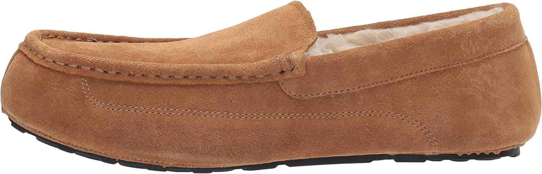 Essentials Mens Leather Moccasin Slipper