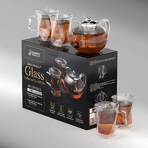 James Bentley - Tetera con filtro de té, tetera de cristal ...
