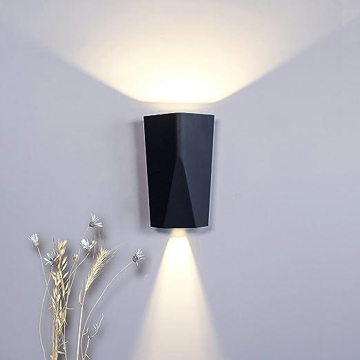 Outside Wall Light Outdoor Wall Lighting External Wall Lamp Weatherproof Wall Fixture 4000k Ip65 Amazon Co Uk Lighting