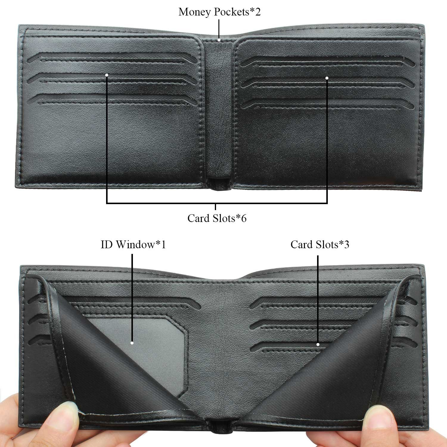 RFID Blocking Bifold Leather Wallet for Men - Best Gifts for Business Anniversary by HAWSON (Image #5)