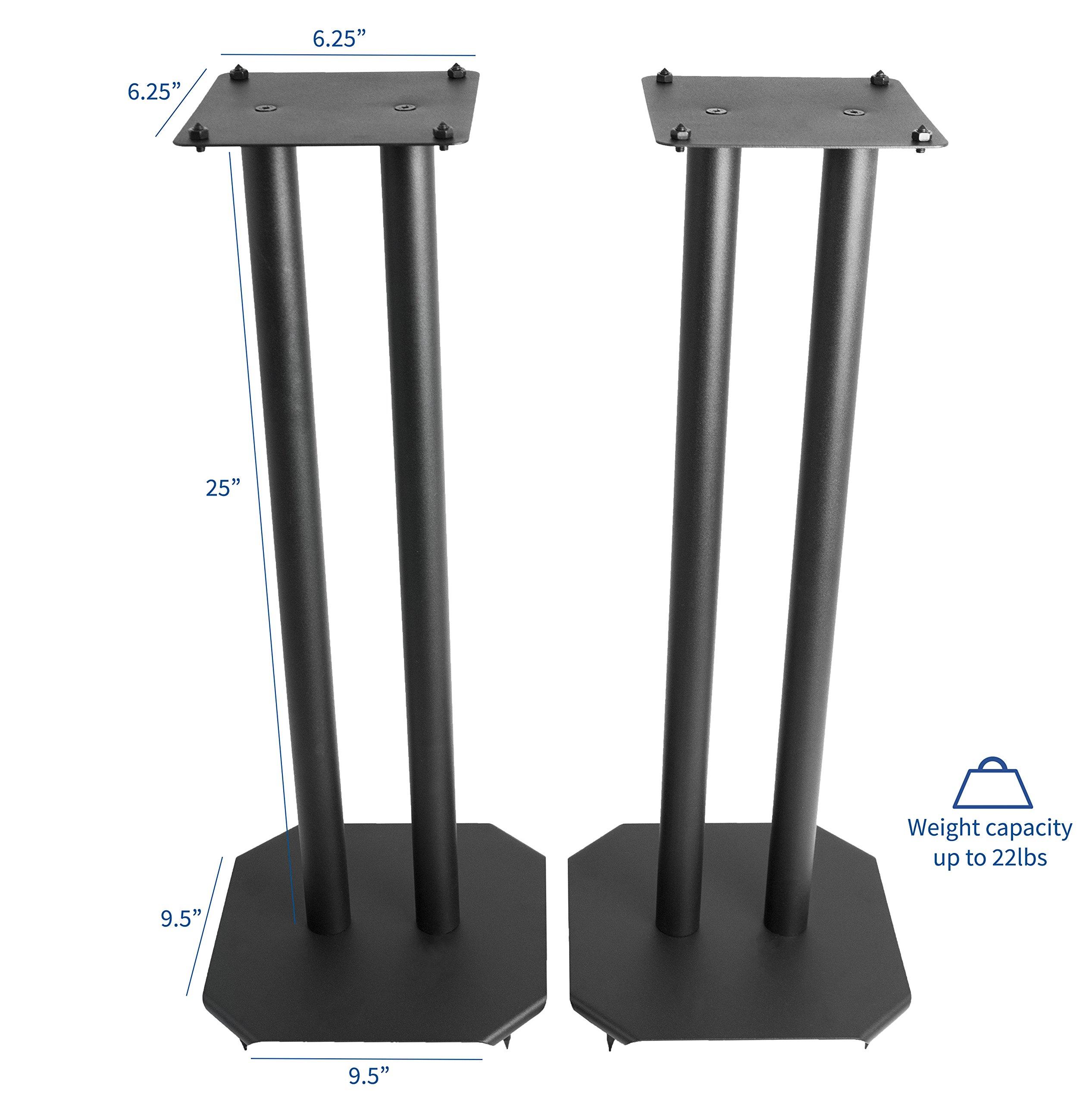 vivo premium universal floor speaker stands for surround sound book shelf speakers stand. Black Bedroom Furniture Sets. Home Design Ideas