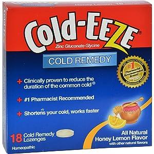 2Pack! Cold-EEZE Cold Remedy Lozenges Honey Lemon - 18 Lozenges