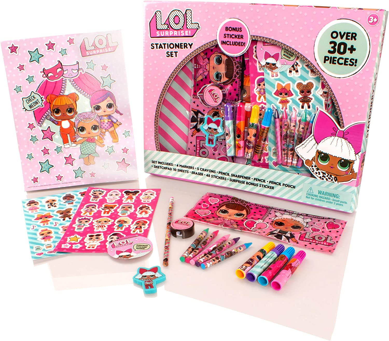 MGA Entertainment LOL Surprise Deluxe - Juego de papelería de 30 Piezas - Lápices para Colorear para niñas, Caja de lápices, Kit de Arte: Amazon.es: Juguetes y juegos