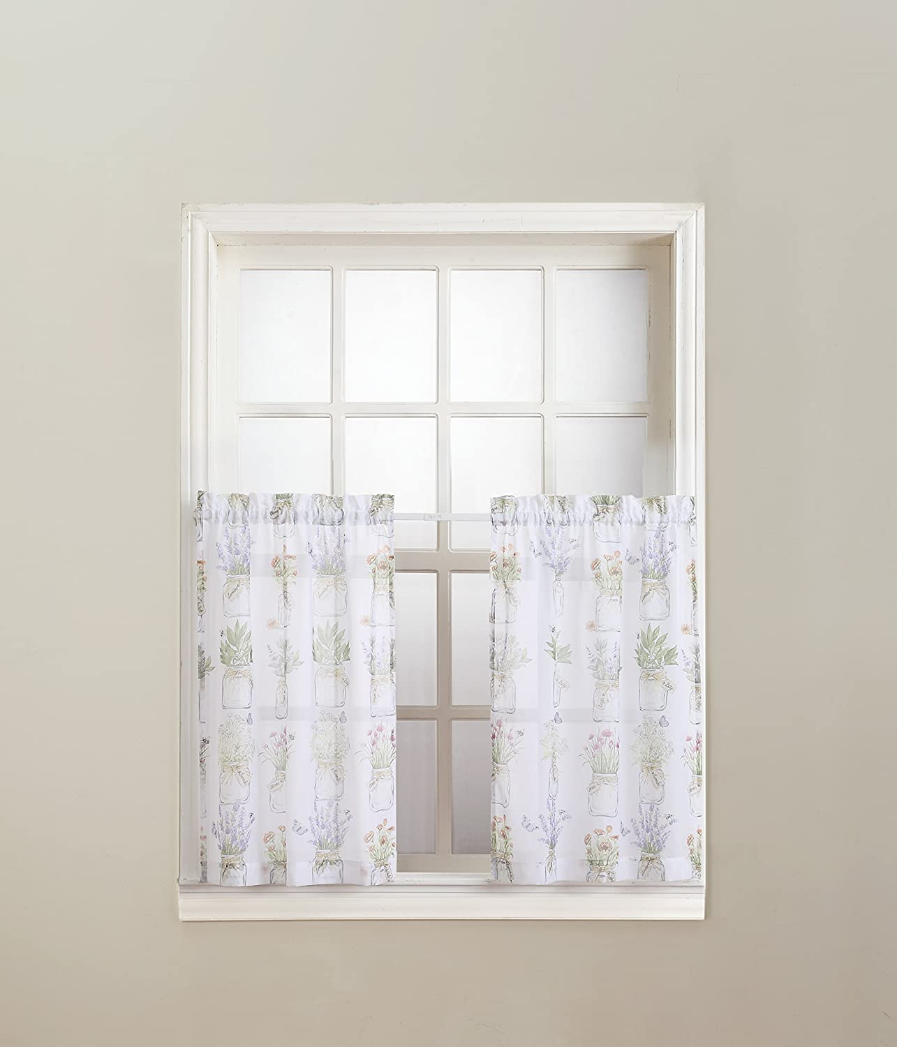 No. 918 Eve's Garden Floral Print Kitchen Curtain Valance, 54
