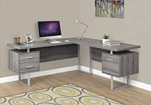 "Monarch Specialties Computer Desk Left or Right Facing Dark Taupe 70""L"