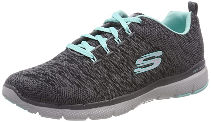 Skechers Flex Appeal 3.0 Sneakers Damen Grau/Türkis