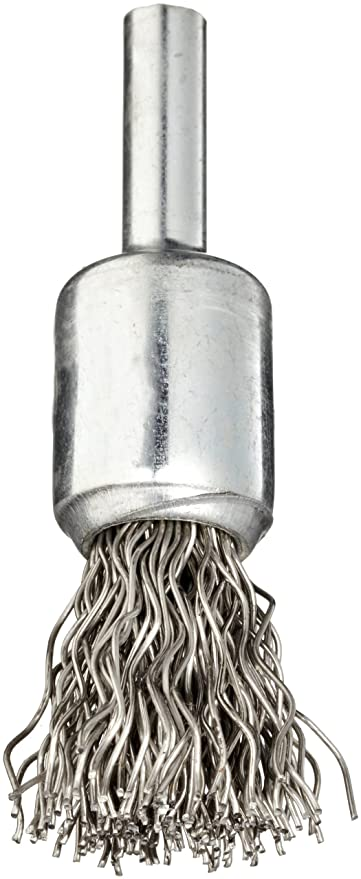 "Weiler 1x4/"" Crimped Wire Two End Brushes .014 Stainless"