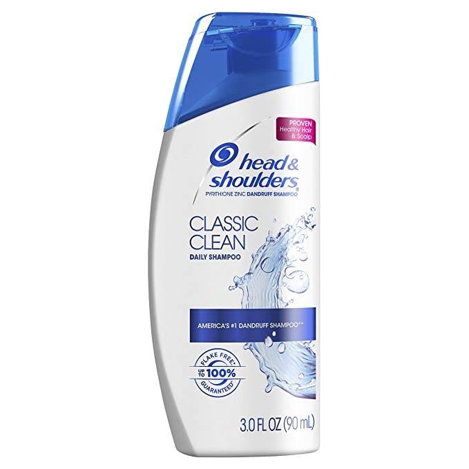 Amazon Com Head And Shoulders Classic Clean Anti Dandruff Shampoo 3 Oz Beauty