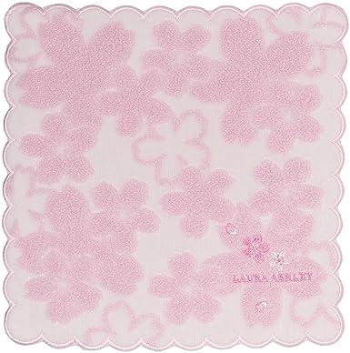 294b91ae2366 [ローラ アシュレイ] ミニタオルハンカチ レディース タオルハンカチ 白/ピンク 日本 25cm×