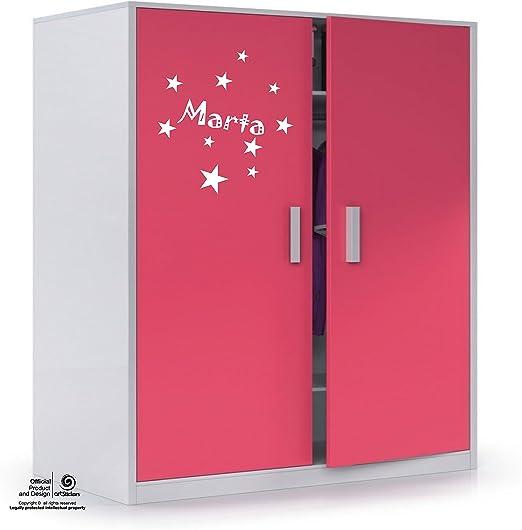 Puertas Paredes.Nombre: Paula en Color Rosa Nombre de 20cm Kit de 10 Estrellas para Libre colocaci/ón. Artstickers Adhesivo Infantil para decoraci/ón de Muebles