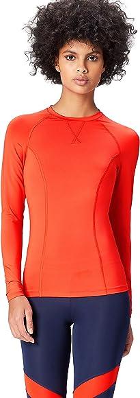Activewear Camiseta Deporte Manga Larga Mujer, Rojo (Sport Red), 38 (Talla del Fabricante: Small): Amazon.es: Ropa y accesorios