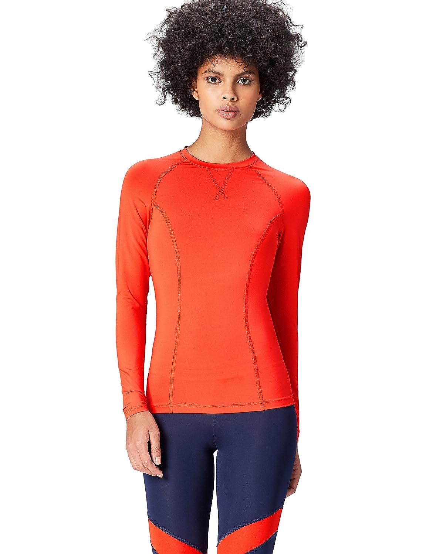 TALLA 42 (Talla del Fabricante: Large). Activewear Camiseta Deporte Manga Larga Mujer