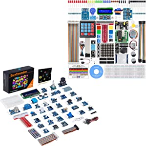 SunFounder Raspberry Pi Starter Kit and Raspberry Pi Sensor Kit with Tutorials Compatible with Raspberry Pi 4B 3B+, Support Python C, Learn Electronics and Programming for Raspberry Pi Beginners