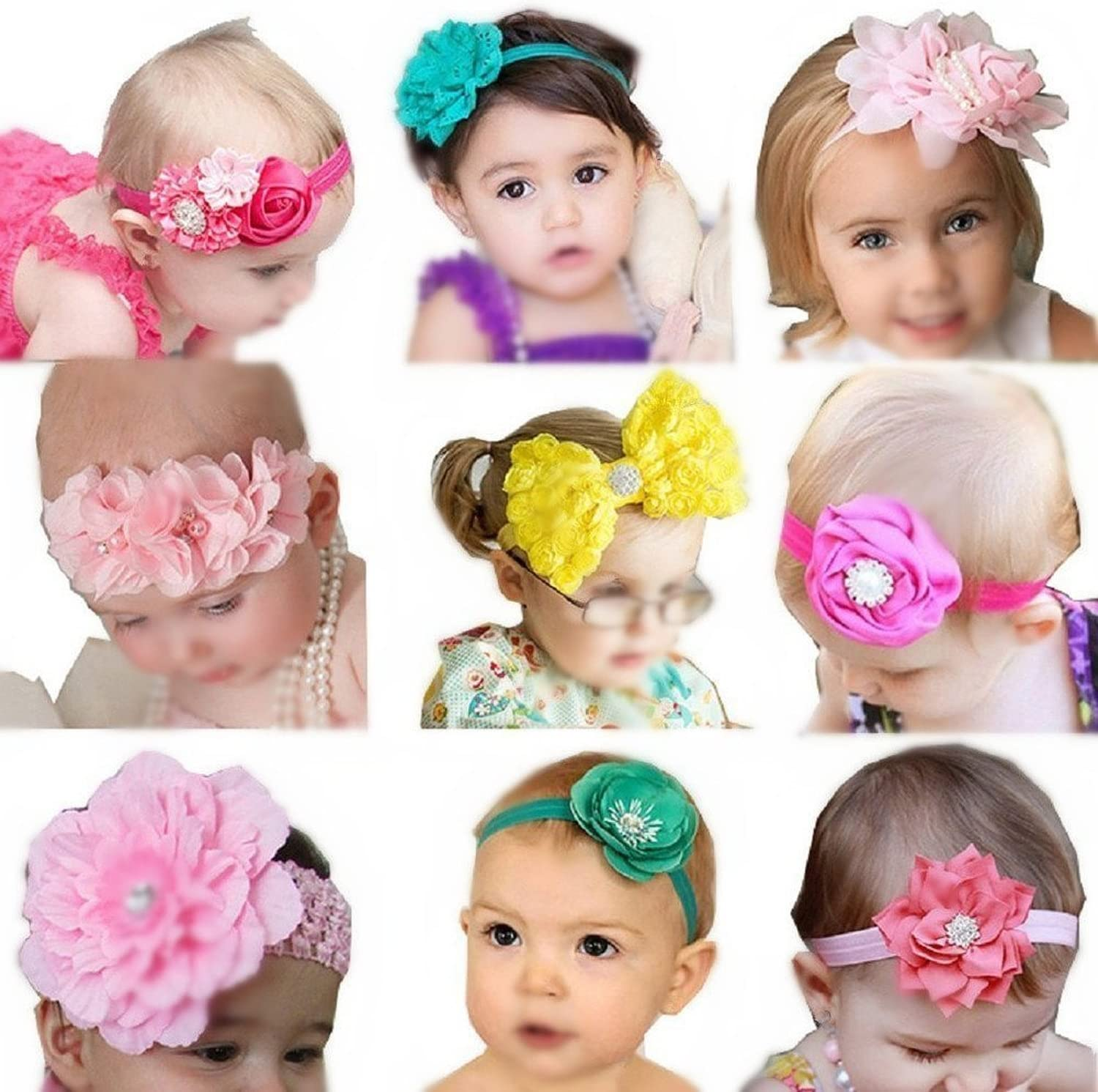 Ice Blue Crushed Velvet Hand Tied Headband for Newborn Baby Child Little Girl Photo Prop Adorable Beautiful Easter Spring Summer Bow
