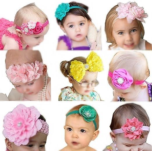 2015 Fashion Girls Lace Big Bow Hair Band Baby Wrap Cloth Hair Accessories 2015