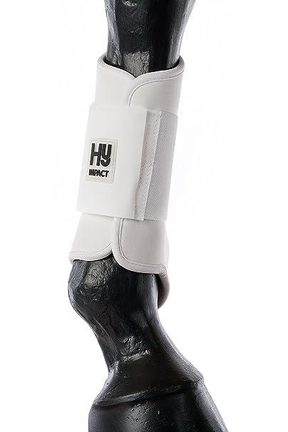 Hyimpact cepillado botas para caballos & ponies- gran protección contra el uso & golpes cualquier. Ligero, Flexible y perfecto para Everday. Varios colores se venden en pares 6114p, blanco