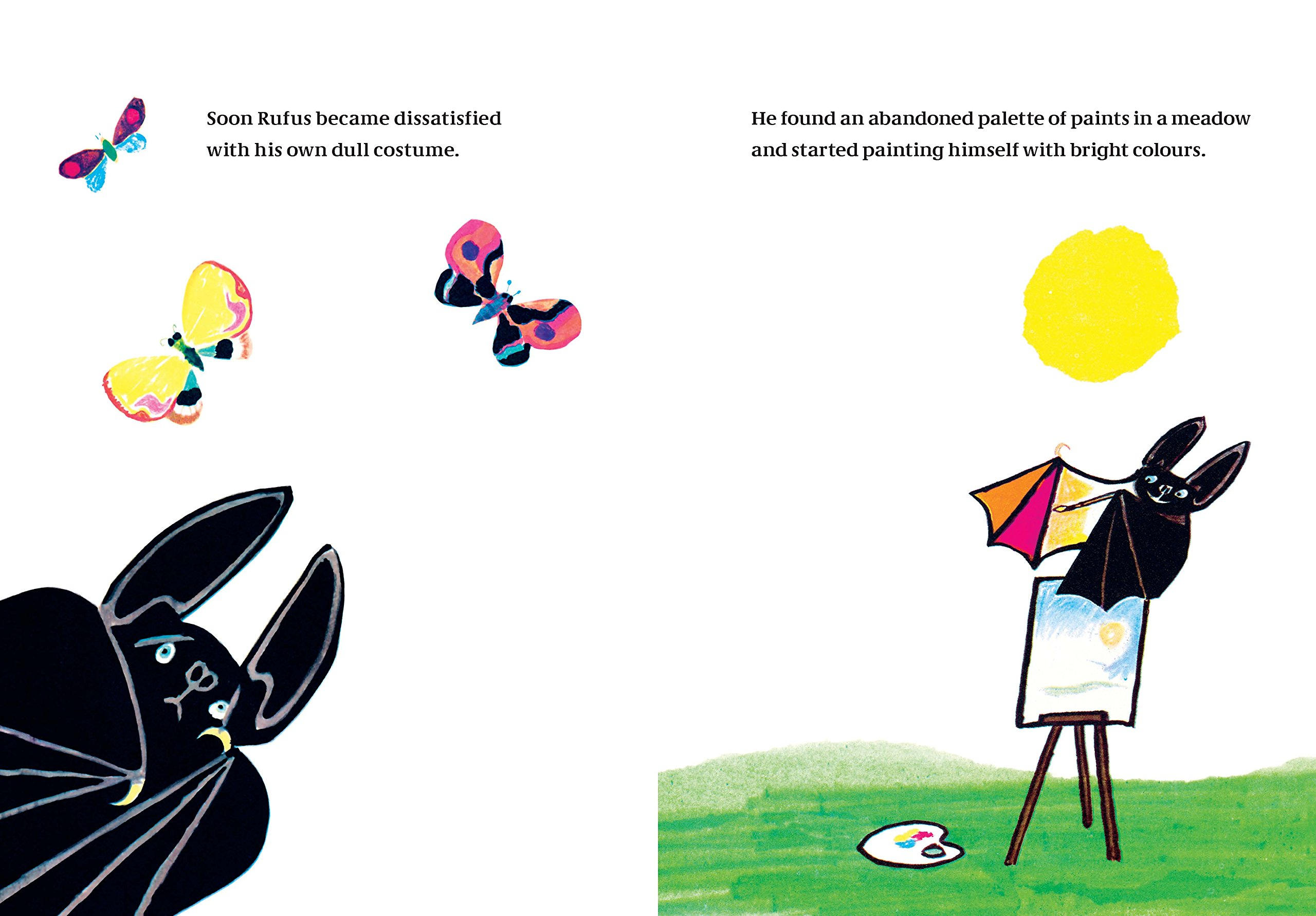 Rufus: The Bat Who Loved Colors: Tomi Ungerer: 9780714870496: Amazon.com:  Books