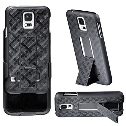 Amazon.com: Galaxy S5 cartuchera – wizgear (TM) 3 en 1 Combo ...