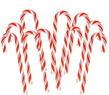 play kreative red white peppermint christmas candy canes candy pack of 24 christmas holiday - Christmas Candy Canes