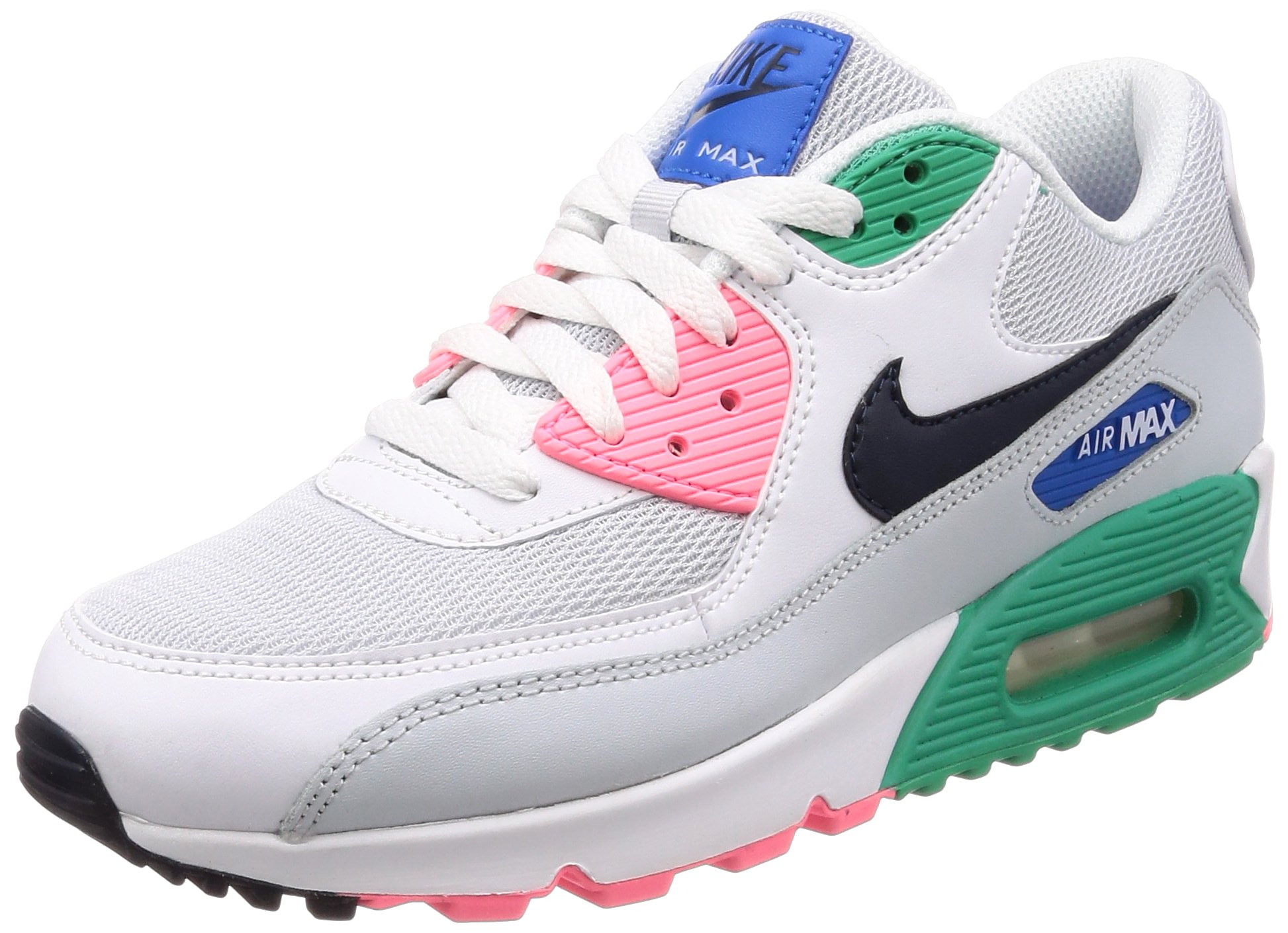best website 34950 95941 Galleon - NIKE Men s Air Max 90 Running Shoe White Obsidian-Pure Platinum- Blue Nebula 8