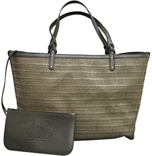 Amazon.com  Gucci Black GG Diamante Leather Top Handle Large Tote ... 2a7e067748fd5