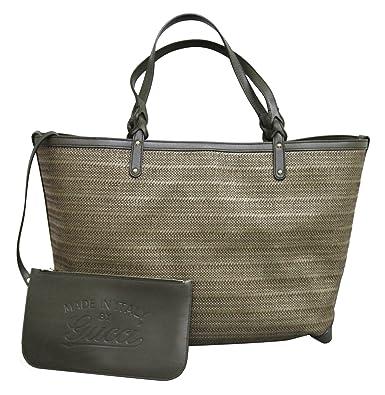 b1ef5ae9d2b9 Amazon.com: Gucci Craft Large Green Tote Bag Handbag 247207: Shoes