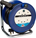 Masterplug LDCC3013/4BL 30 m 4 Socket 13 amp Open Cable Reel with Thermal Cut Out and Reset Button