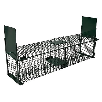 Moorland Safe 5007 -Trampa para Animales Vivos - Martas, Gatos Zorros - 100x25x25cm -