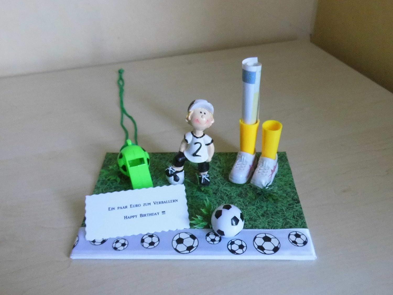Geldgeschenk Dekoration Fussball Fussball Amazon De Handmade