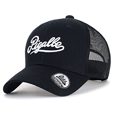 ililily Pigalle Embroidered Baseball Cap Solid Color Mesh Snapback Trucker  Hat be05a295990