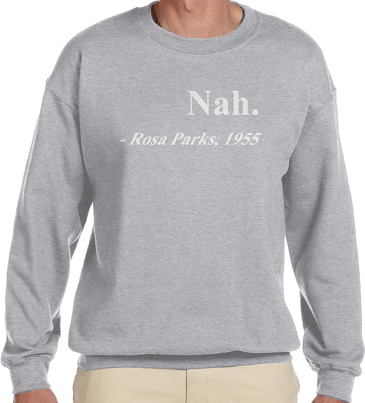 945c1f024 Amazon.com: Amdesco Men's Nah. Rosa Parks, 1955, Black History Month  Crewneck Sweatshirt: Clothing