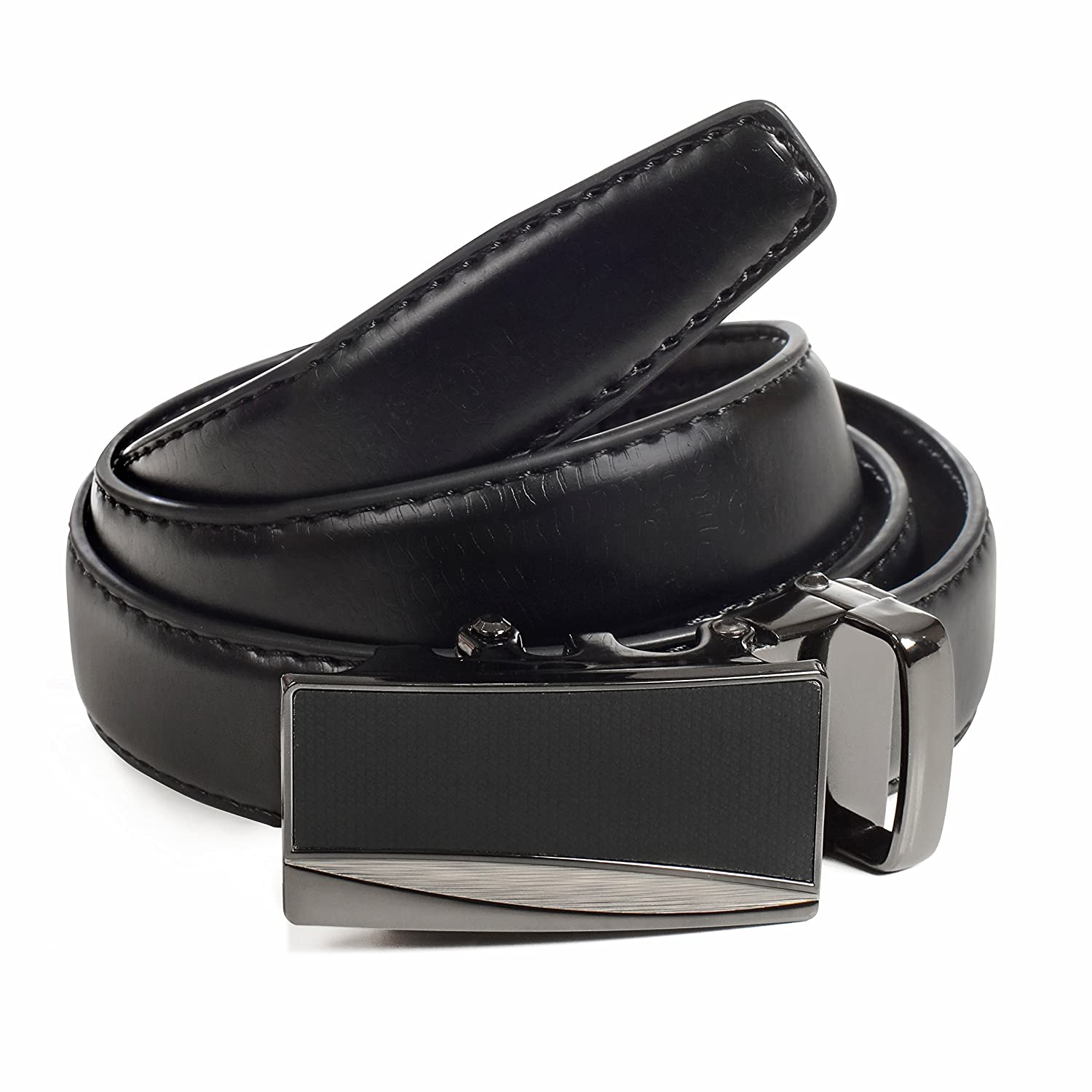 Leather Ratchet Boys Belt, Automatic Buckle, Adjustable Belt by CANDOR AND CLASS