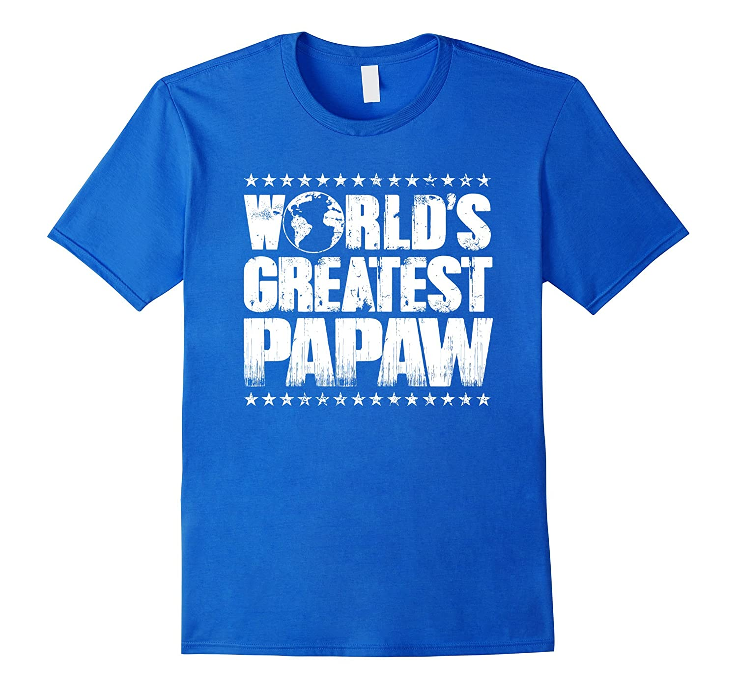 World's Greatest Papaw T Shirt -Best Ever Award Gift Tee-Art