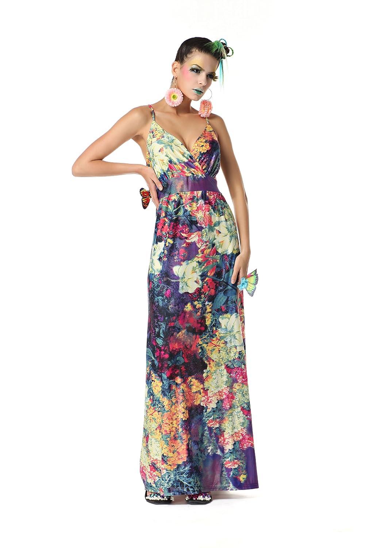 Polarfox Womens Floor Length Floral Print Dresses at Amazon Womens Clothing store:
