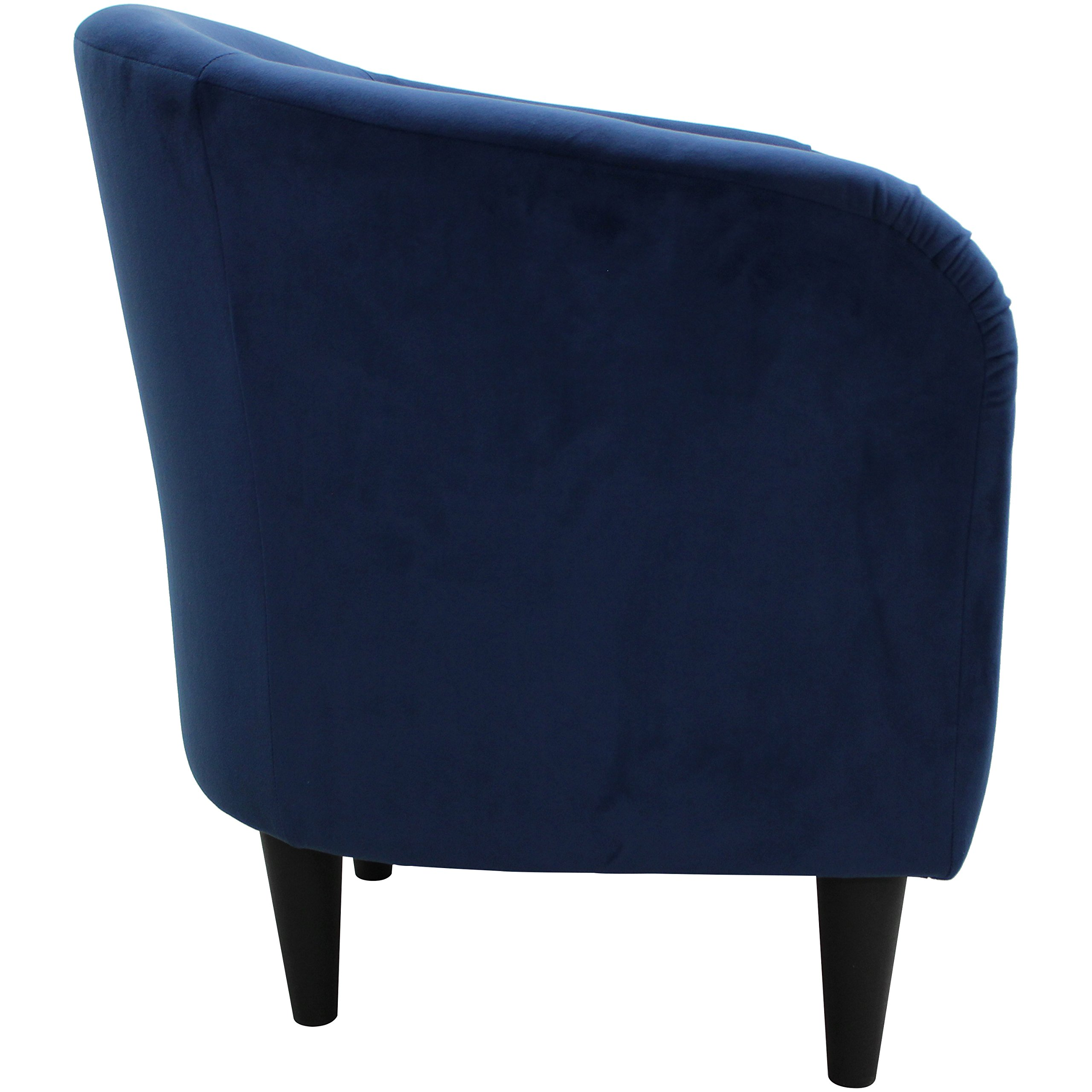Mainstays Microfiber Tub Accent Chair (Navy Blue) by Mainstay (Image #3)