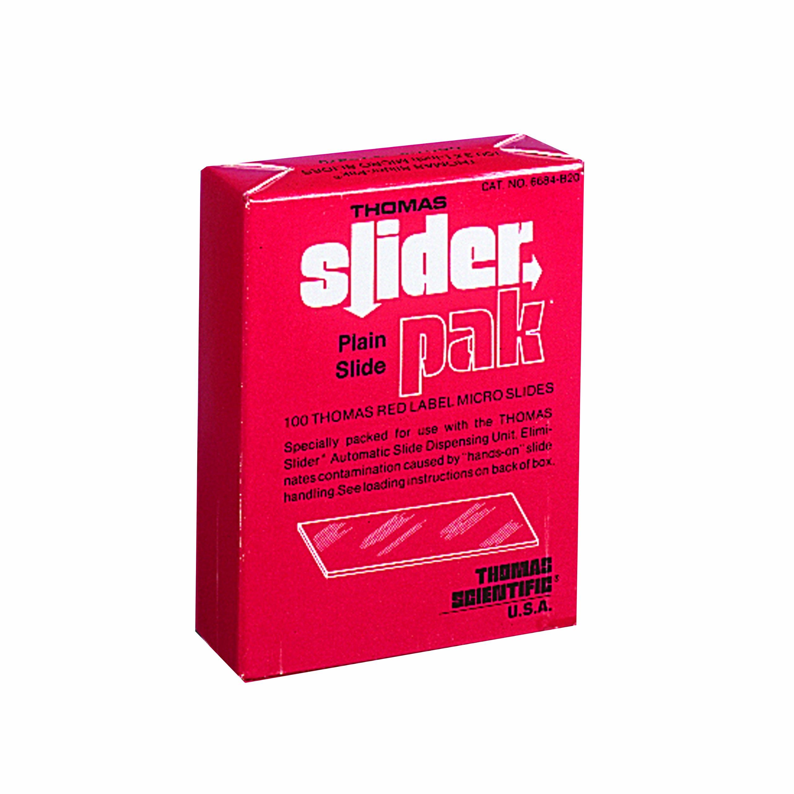 Thomas SLD-PAK20-602757 Red Label Plain Side Slider-Pak, 3'' Length x 1'' Width (Case of 10)