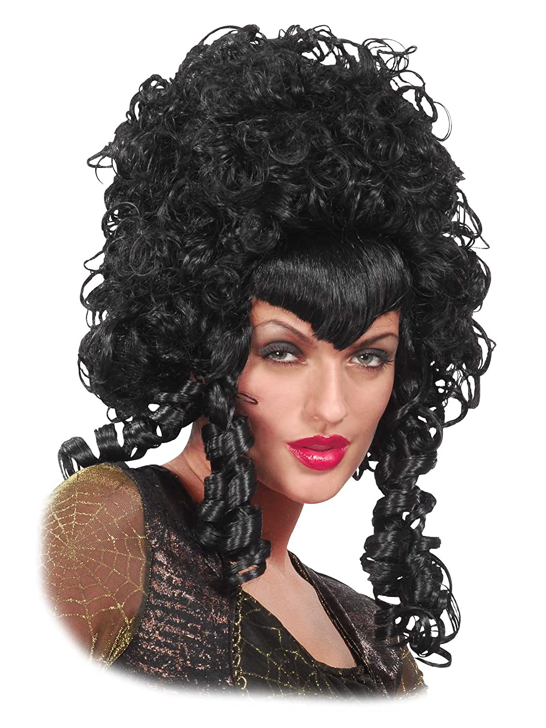 Download image 1700s woman portrait pc android iphone and ipad - Amazon Com Curly Long Black Wig Big Hair Mess Poofy Widows Peak Womens Theatrical Costume Clothing