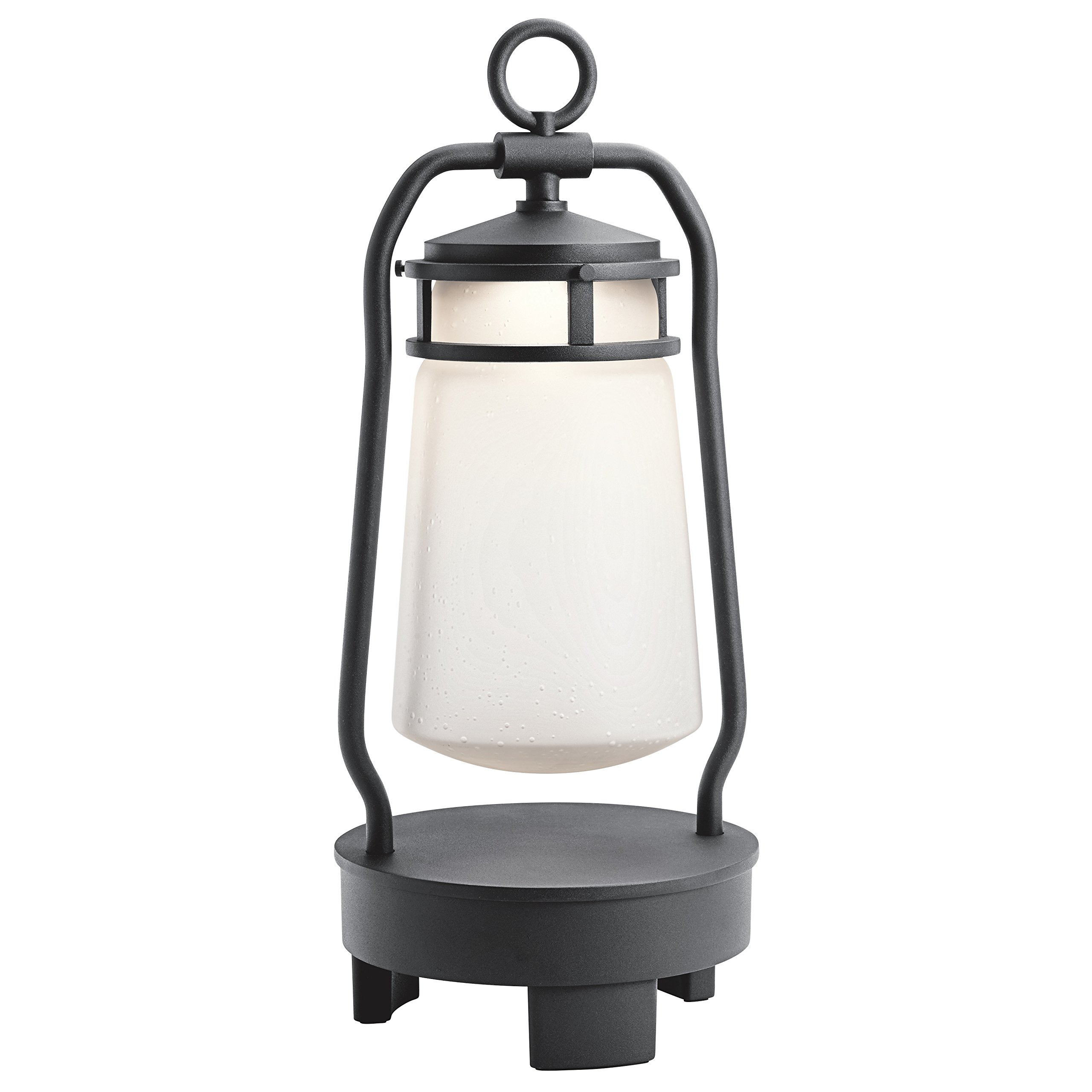 Kichler 49500BKTLED Lyndon Portable Bluetooth Speaker Outdoor Lantern, 1 Light LED 7 Watts, Textured Black