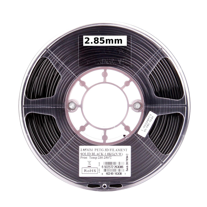 Esun 3d 3 mm PETG sólido negro filamento 1 kg (2.2lb), PETG 3d ...