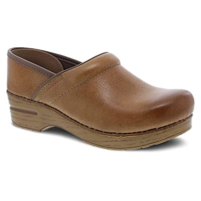 Amazon.com | Dansko Women's Professional Honey Distressed Clog 6.5-7 Wide US | Mules & Clogs