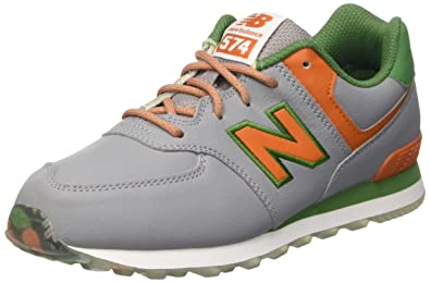 new concept f7e3b 72a95 New Balance Unisex Kids  KL574Z2Y-574 Hi-Top Sneakers, Multicolor (Grey